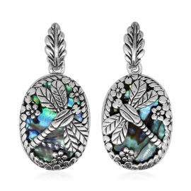Royal Bali Collection Abalone Shell Earrings (with Push Back) in Sterling Silver 15.000 Ct.