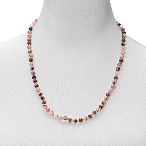 Zebra Jasper Necklace (Size 24) in Sterling Silver 55.000 Ct.