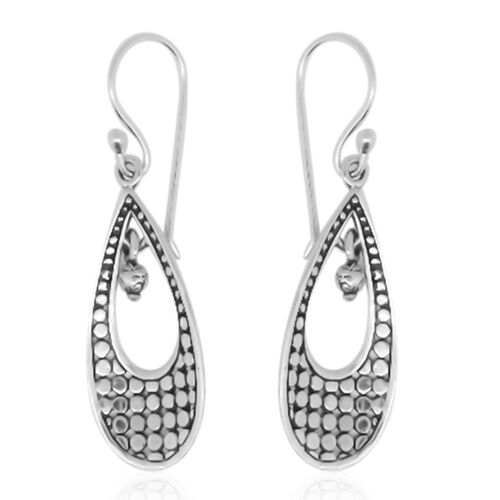 Royal Bali Collection Sterling Silver Drop Earrings, Silver wt 3.81 Gms.