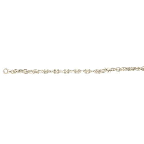 Yellow Gold Overlay Sterling Silver Marine Chain (Size 20), Silver wt 30.67 Gms.