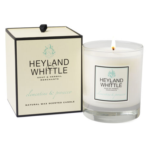 Heyland and Whittle Handmade Clementine and Prosecco Candle- Estimated dispatch within 3-5 working days