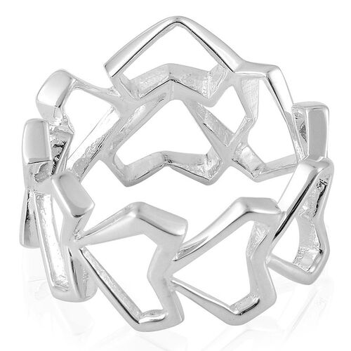 RACHEL GALLEY Sterling Silver Love and Peace Eternity Ring, Silver wt 3.70 Gms.