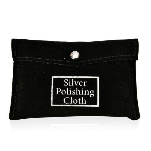Set of 30 - Anti Tarnish Silver Polishing Cloth (Size 10.8X6.8 Cm) in Black Colour Pouch
