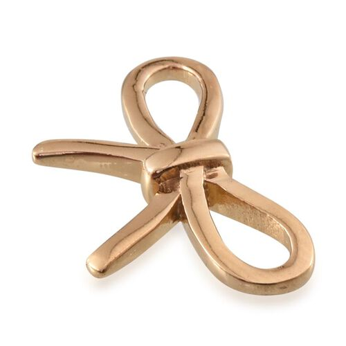14K Gold Overlay Sterling Silver Knot Cufflink, Silver wt. 6.50 Gms.