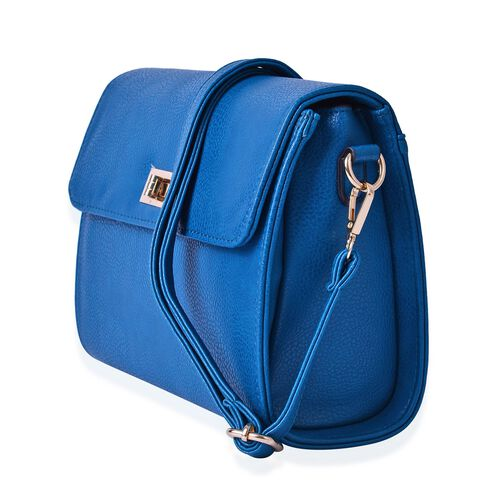 Marylebone Classic Deep Turquoise Colour Crossbody Bag with Adjustable and Removable Strap (Size 27x20x9 Cm)