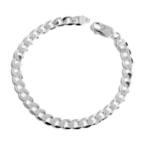 Close Out Deal Sterling Silver Curb Bracelet, Silver wt. 10.52 Gms.