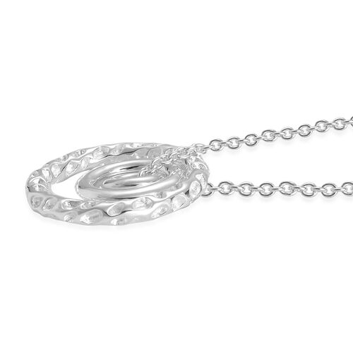 RACHEL GALLEY Allegro Triple Large Pendant With Chain in Sterling Silver.