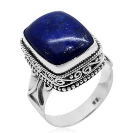 Royal Bali Collection Lapis Lazuli (Cush) Ring in Sterling Silver 11.540 Ct.