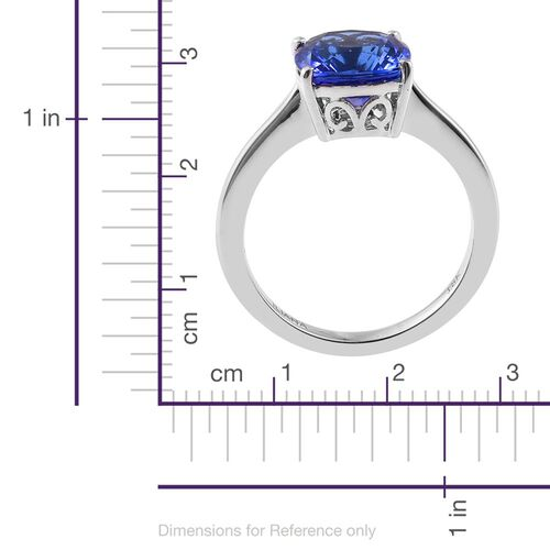 Collectors Edition- ILIANA 18K White Gold Very Rare Size AAA Tanzanite (Cush) Solitaire Ring 2.750 Ct.