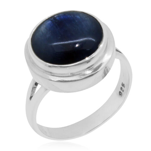 Royal Bali Collection Himalayan Kyanite (Rnd) Ring in Sterling Silver 10.080 Ct. Silver wt. 5.00 Gms.