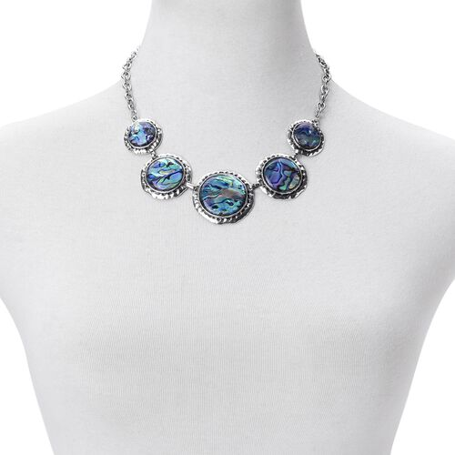 Summer Statement Abalone Shell Necklace (Size 18 with 2 inch Extender) 50.000 Ct.