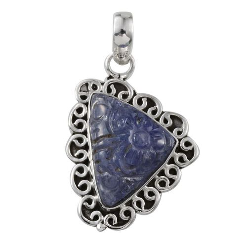 Jewels of India Tanzanite Pendant in Sterling Silver 13.500 Ct.