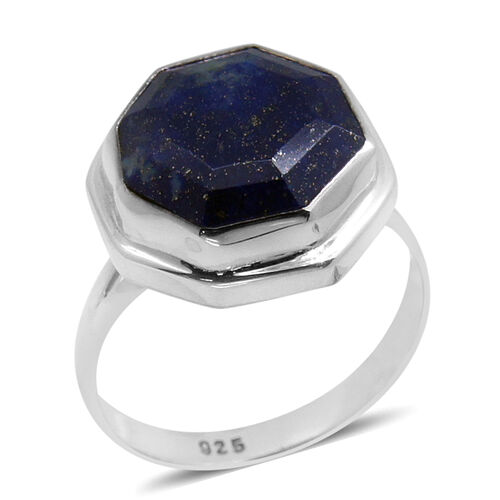 Royal Bali Collection Lapis Lazuli Ring in Sterling Silver 11.820 Ct.