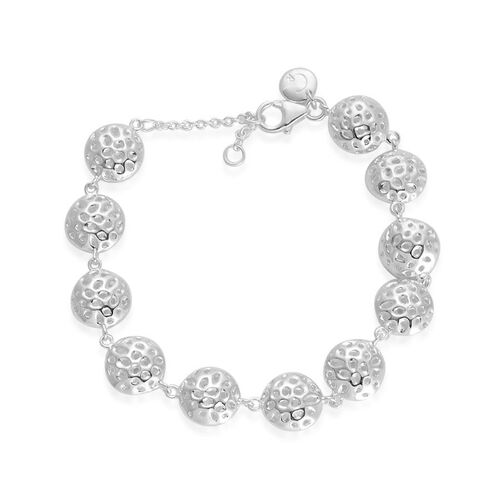 RACHEL GALLEY Sterling Silver Mini Disc Bracelet (Size 8), Silver wt 16.41 Gms.