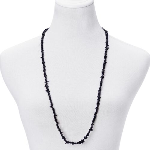 Australian Black Tourmaline Necklace (Size 34) 155.000 Ct.
