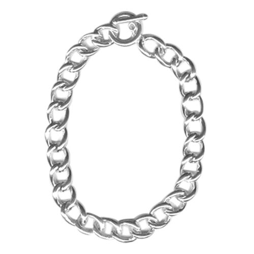 Designer Inspired Sterling Silver Curb Necklace (Size 20), Silver wt 54.00 Gms.