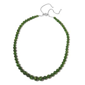 TJC Launch-Collectors Edition-100% Natural Extremely Rare AAA Russian Diopside Adjustable Necklace with Magnetic Lock (Size 16 to 22) in Sterling Silver 180.000 Ct.