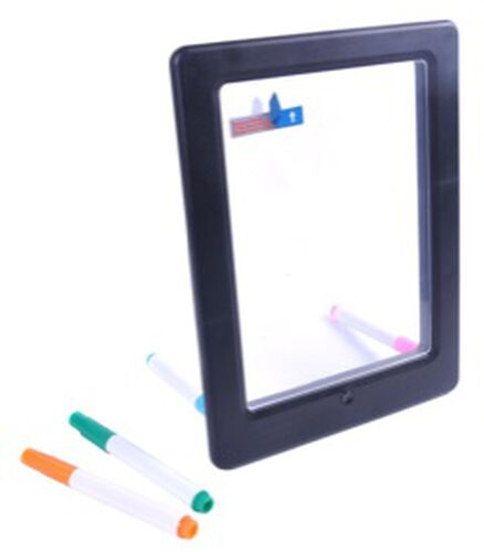 Splat Board - Neon Art glow Drawing Board with 4 Markers and 10 Tracing Cards- Estimated delivery time 5-7 working days