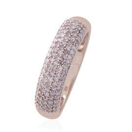 9K Rose Gold 0.50 Carat Natural Pink Diamond (Rnd) (I3/J-I) Ring