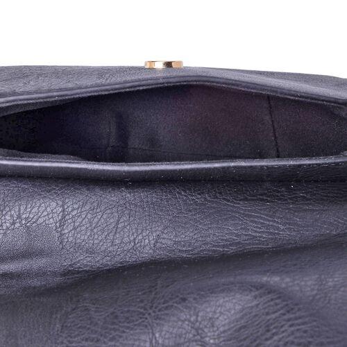 Black Colour Crossbody Bag with Tassels and Adjustable Shoulder Strap (Size 20x17x8 Cm)