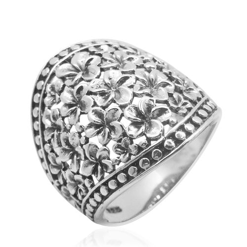 Royal Bali Collection Sterling Silver Floral Ring, Silver wt 7.80 Gms.