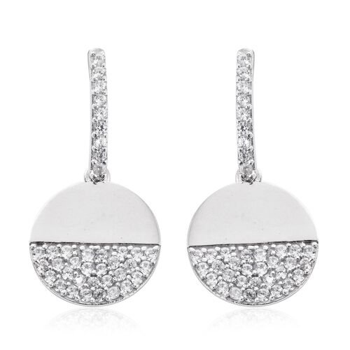 Natural Cambodian Zircon Earrings (with Push Back) in Platinum Plated Silver 3 Carat