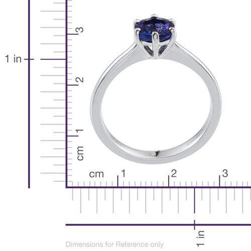 RHAPSODY 950 Platinum AAAA Tanzanite (Rnd) Solitaire Ring 1.000 Ct.