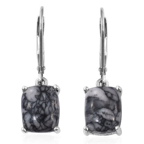 Austrian Pinolith (Cush) Lever Back Earrings in Platinum Overlay Sterling Silver 6.750 Ct.