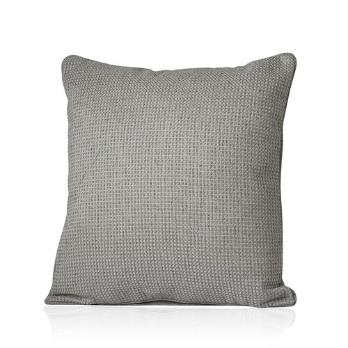 Dotted Pattern Grey Colour Cushion (Size 43x43 Cm)