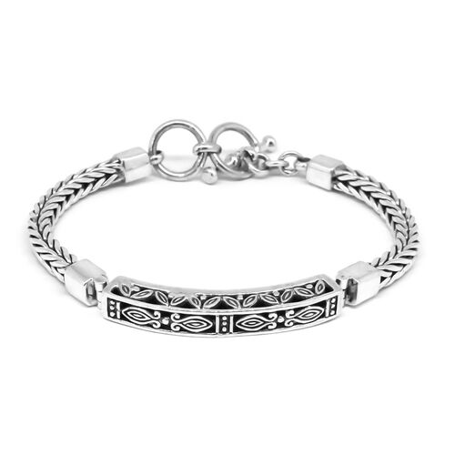 Limited Edition-Royal Bali Collection Sterling Silver Tulang Naga Bracelet (Size 7.5), Silver wt 23.68 Gms.