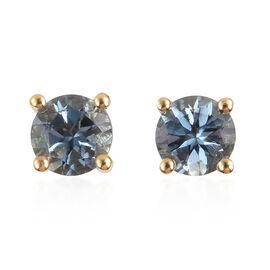 0.50 Carat AA Santa Maria Aquamarine Stud Earrings in 9K Gold (with Push Back)