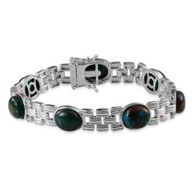 Table Mountain Shadowkite (Ovl) Bracelet in Platinum Overlay Sterling Silver (Size 7.5) 26.500 Ct.