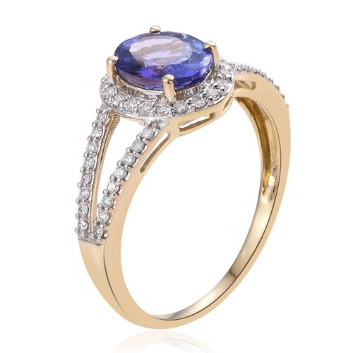 14K Y Gold Tanzanite (Ovl 2.00 Ct), Diamond Ring 2.500 Ct.