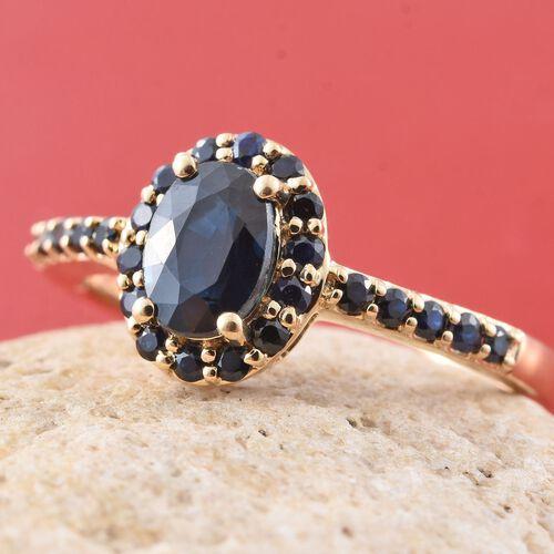 ILIANA 18K Yellow Gold Kanchanaburi Blue Sapphire (Ovl 1.15 Ct) Ring 1.500 Ct.