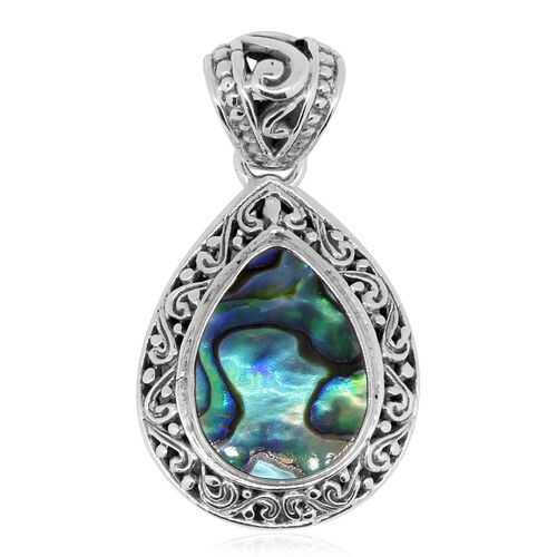 Royal Bali Collection Abalone Shell (Pear) Pendant in Sterling Silver 12.000 Ct.