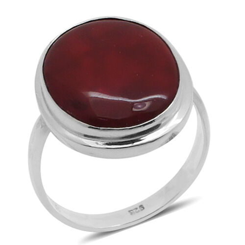 Royal Bali Collection Coral Solitaire Ring in Sterling Silver 9.300 Ct.