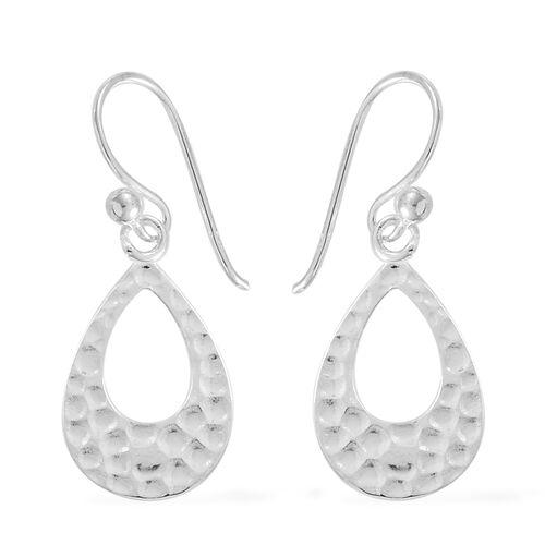 Thai Sterling Silver Teardrop Hook Earrings