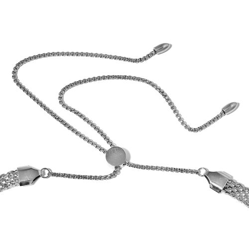 Stainless Steel Bismark Adjustable Necklace (Size 18) and Bracelet (Size 7 to 11)