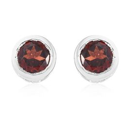 Mozambique Garnet (Rnd) Stud Earrings (with Push Back) in Sterling Silver 1.250 Ct.