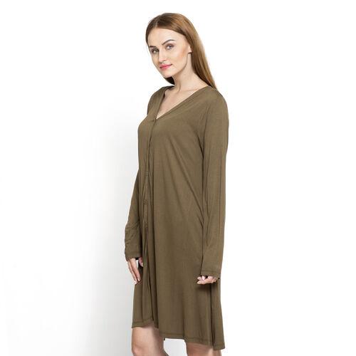 Olive Colour Free Size Versatile Knit Cardigan (Large Size)