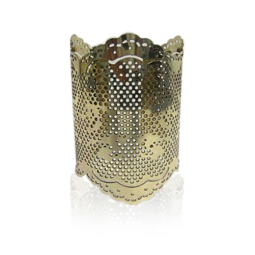 Jewels of India Handicraft Vintage Lace Cuff in Silvertone