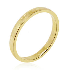 Royal Bali Collection 9K Y Gold Hand Made Diamond Cut Band Ring