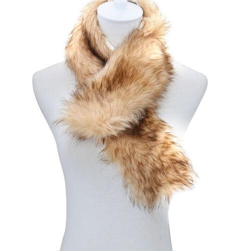 Faux Fur Brown Colour Scarf and Fluffy Earmuff