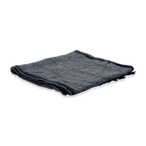 Black and Grey Colour Scarf (Size 30x180 Cm)