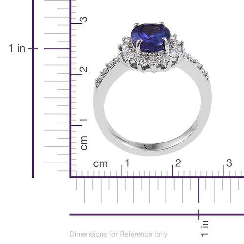 RHAPSODY 950 Platinum 3.25 Carat AAAA Tanzanite Oval Engagement Ring, Diamond VS E-F.