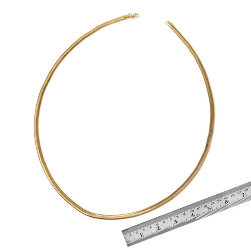 Snake Necklace (Size 30) and Bracelet (Size 8.50) in ION Plated Yellow Gold Stainless Steel
