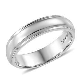 RHAPSODY 950 Platinum Milgrain 5mm Comfort Fit Wedding Ring, Platinum wt 8.43 Gms.
