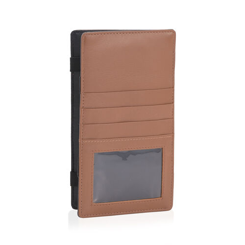 Genuine Leather RFID Blocker Tan Colour Magical Wallet (Size 18x10 Cm) and Card Holder