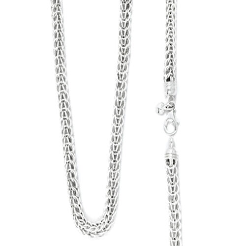 Rhodium Plated Sterling Silver Necklace (Size 20), Silver wt. 33.40 Gms.