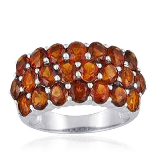 Madeira Citrine (Rnd) Ring in Sterling Silver 3.520 Ct.